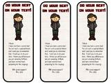 Hunger Games Testing Theme Editable Bookmarks