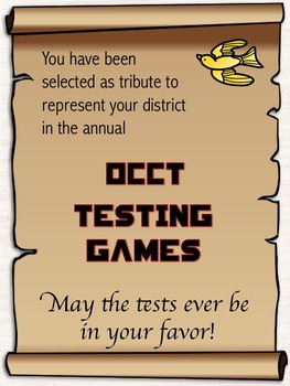 Hunger Games Testing Theme Invitation *Editable*