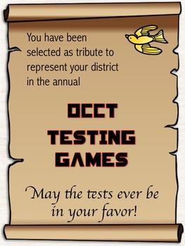 Hunger Games Testing Theme Invitation *Editable*