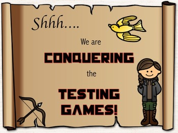Hunger Games Testing Theme Shhh...We're Testing Sign