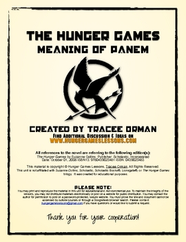 """Hunger Games"" Trilogy Meaning of Panem Lesson"
