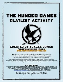 """Hunger Games"" Trilogy Playlist Soundtrack Activity Handout"