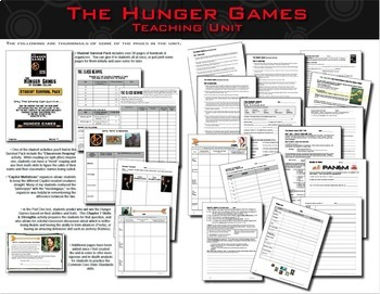 The Hunger Games Trilogy Teaching Units Bundle