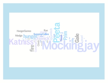 """Hunger Games"" Trilogy Word Art Prints - Catching Fire - Mockingjay"