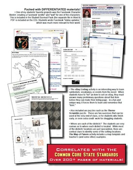 """Hunger Games"" Unit: Lessons Q&A Tests Activities Quiz Vocab Maps Key"