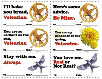 Hunger Games Valentine Cards Free Printables