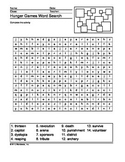 Hunger Games Word Search Printable