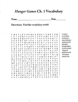 Hunger Games Word Searches-BUNDLE