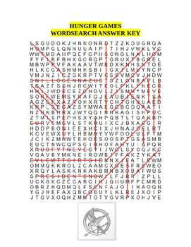 Hunger Games (novel) Wordsearch
