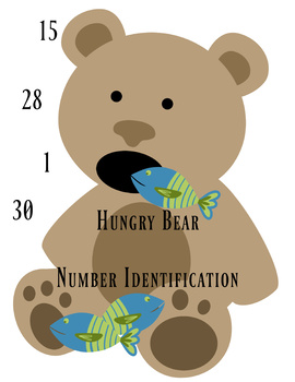 Hungry Bear Number Identification Game