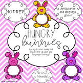 NO PREP Easter and Spring Speech and Language Activity - Hungry Bunnies!
