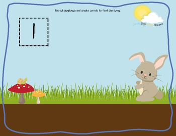 Hungry Bunny Math Playdough Mats