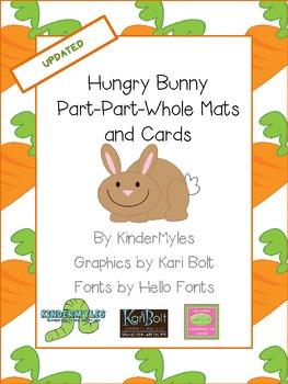 Hungry Bunny Part Part Whole Mats & Cards