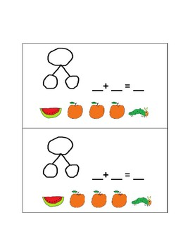Addition and Subtraction with Number Bonds: Use with Carle Hungry Caterpiller