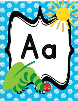 Hungry Caterpillar Alphabet