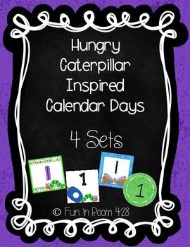 Caterpillar Inspired Calendar Days {4 sets}
