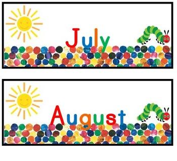 Hungry Caterpillar Calendar Set