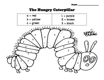 Hungry Caterpillar Color by Number