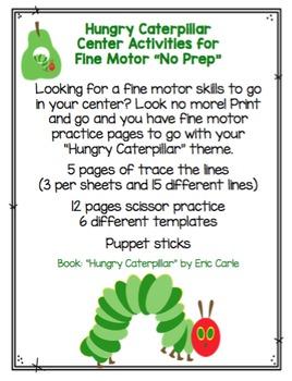Hungry Caterpillar Fine Motor Skills Practice