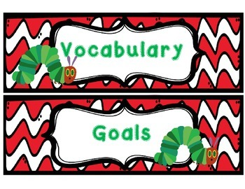 Hungry Caterpillar Focus Wall Banner and Headings