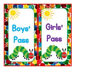 Hungry Caterpillar Hall Passes