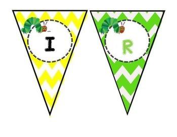 Hungry Caterpillar Happy Birthday Banner