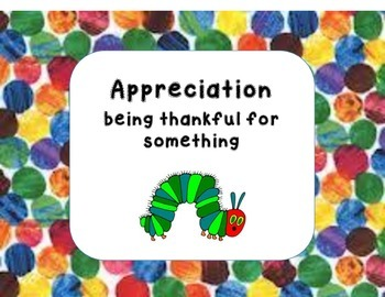 Hungry Caterpillar IB Attitude Words