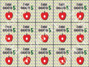 Hungry Caterpillar Inspired Counting Brag Tags - 1 design - Behavior Incentive