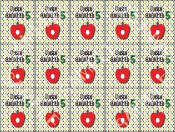 Caterpillar Counting Brag Tags - 1 design - Behavior Incentive