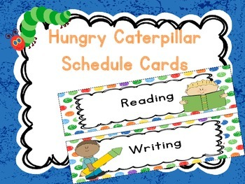 Hungry Caterpillar Inspired Daily Schedule Cards
