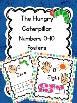 Hungry Caterpillar Inspired Number Posters