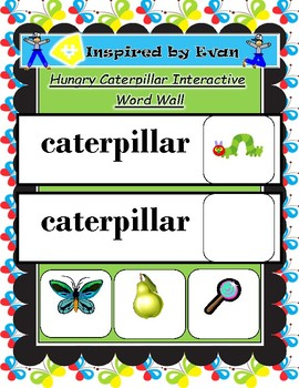 Hungry Caterpillar Interactive Word Wall for Autism