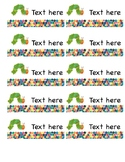 Hungry Caterpillar Labels