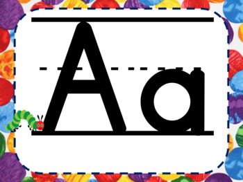 Hungry Caterpillar Letter Tracing Pages