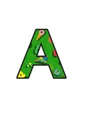 Hungry Caterpillar Letters (upper/lowercase, cursive, numb