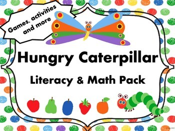 Hungry Caterpillar Literacy and Math Activity Pack and Les