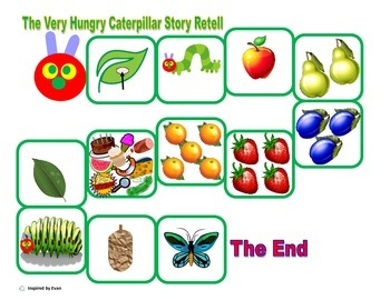 """""""Hungry Caterpillar"""" Match, Sort, & Sequence for Autism"""