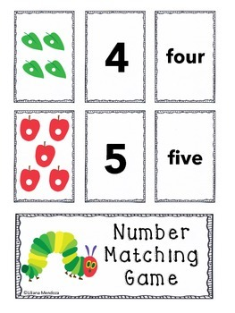 Hungry Caterpillar Matching Game