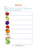 The Very Hungry Caterpillar Math Activity