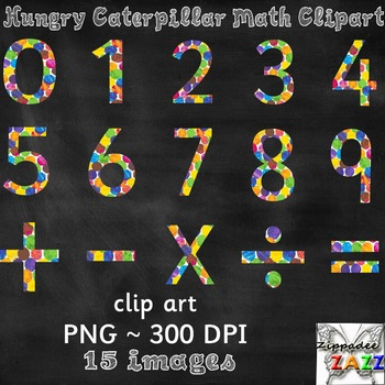 Watercolor Math Clipart