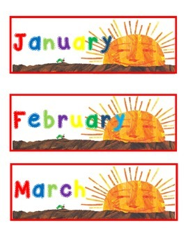 Hungry Caterpillar Months, Days, Years