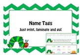 Hungry Caterpillar Name Tags