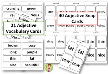 The Very Hungry Caterpillar Noun & Adjectives Pack with Activities & Games