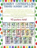 Caterpillar Number Posters 1-20