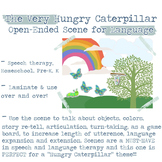 Hungry Caterpillar OPEN-ENDED Scene for Speech Therapy and