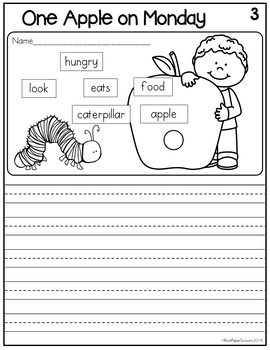Hungry Caterpillar Picture Writing Prompts