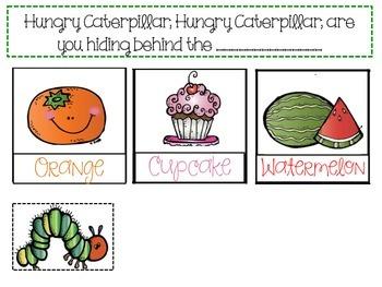 Hungry Caterpillar Pocket Chart Game