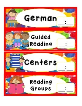 Hungry Caterpillar Schedule Cards