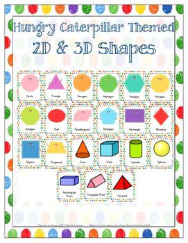 Hungry Caterpillar Shapes- 2D & 3D