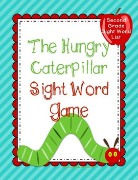 Hungry Caterpillar Sight Word Game: Second Grade List